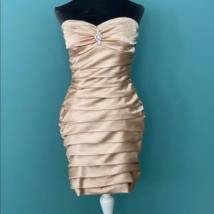 Gold homecoming/prom dress